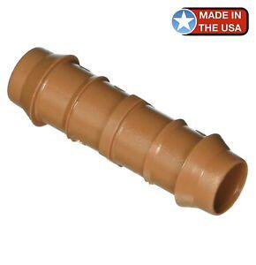 "DIG 25-PACK -17mm 1/2"" Barb Insert Coupling - Drip Irrigation Tubing Hydroponics"