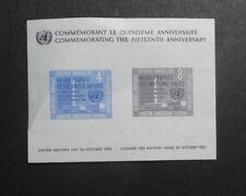TIMBRES NATIONS UNIES** NY - bloc-feuillet Y/T n° 2 - 1960 - 15e de l'ONU (A422)