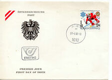 Austria Deportes sobre primer día año 1982 (BR-707)