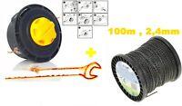 Fadenkopf Fadenspule Mähkopf Motorsense+Mähfaden für Motorsense 2,4 mm / 100 m
