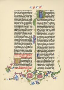 1455 Gutenberg Bible Leaf - 7 leaves Pick any two -1961 Cooper Square Facsimile