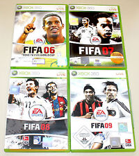 4 XBOX 360 SPIELE SAMMLUNG FIFA 06 07 08 09 - FUSSBALL FOOTBALL SOCCER