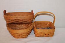 "Lot Of 3 Longaberger Baskets, Booking Lavender, Tarragon, 7"" Generation"