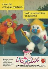 X2164 Peluche POPPLES - Mattel - Pubblicità 1988 - Advertising
