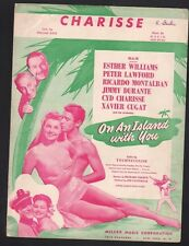 Charisse 1948 Esther Williams On An Island With You Sheet Music