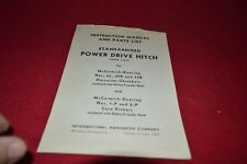 International Harvester Power Drive Hitch Operator's Manual BWPA
