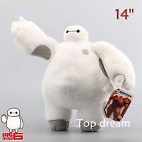 14'' New White Big Hero 6 Baymax Robot Plush Soft Stuffed Toy Doll 35cm Original
