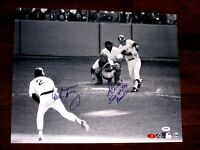 BUCKY DENT MIKE TORREZ CURSE OF THE BAMBINO 78 HR SIGNED AUTO 16 X 20 PHOTO PSA