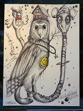 Day 2 Barn Owl Sketch - Original drawing from Drink&Draw With Tai session
