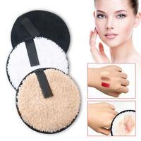 AU_ KE_ FP- Microfiber Cleaning Cloth Pads Plush puff Face Cleaner Makeup Remove