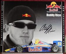 AUTOGRAPHED COLOR PHOTO>INDY CAR>  DRIVER>BUDDY RICE