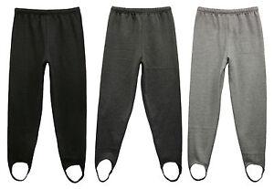 New Ladies Fleece Trousers Ski Pants Stirrup - Sizes M-12/14, L-16/18, XL-20/22