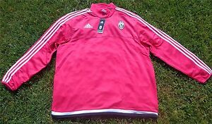 Juventus Turin Jacke Jacket Pink ADIDAS Herren Größe 2XL + NEU + Juve Bianconeri