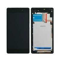 DISPLAY +TOUCH SCREEN COVER FRAME ORIGINALE SONY XPERIA Z2 L50W D6503 VETRO NERO