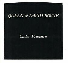 Queen/David Bowie Picture Sleeve for 1981 'Under Pressure' 45rpm *No Record*