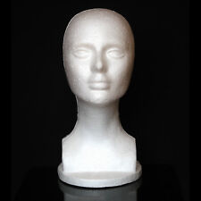 Styroporkopf Femme Tête à Perruque pour Décoration Styro Mousse de Mannequin