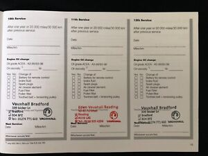 VAUXHALL SERVICE BOOK STAMPED-100% GENUINE STAMPED TO YOUR CHOICE, FOR ALL MODEL