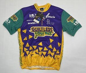 "Vintage 1993 LOUIS GARNEAU Cycling Jersey ""Guiltless Gourmet"" Size 2XL NWT"
