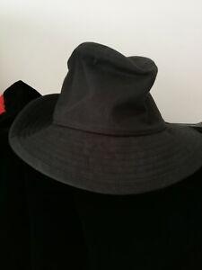 STUNNING RARE ORIGINAL YOHJI YAMAMOTO , BLACK FEDORA ONE SIZE HAT