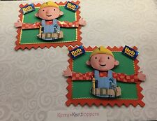 2 x Decoupage Pictures of  Bobb The Builder Theme Toppers