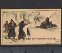 Hunting Walrus 1882 © Congers Chest-Shield Shirt Arctic Advertising Trade Card