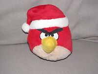 "Angry Birds Christmas Red Bird Wearing A Santa Hat Plush 5"" Stuffed Animal*"