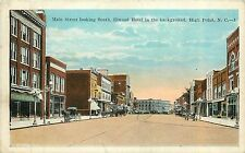 North Carolina, NC, High Point, Main Street looking South 1923 Postcard