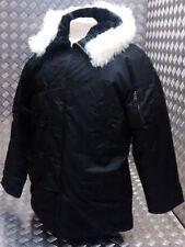 Cappotti e giacche da uomo stile parka di pelliccia nera