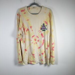 Insight mens multicolour tie dye graphic t shirt size XL long sleeve cotton
