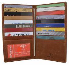 Mens Antique Leather Bifold Credit Card ID Holder Secretart Wallet