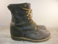 Georgia Mens Logger Linesman Steel Toe Work Workwear Black Leather Boots 11 Wide