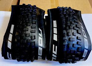 Pair Schwalbe 27.5 X 2.35 Folding Nobby Nic Tyres