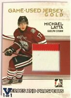 2009-10 ITG Heroes & Prospects Game-Used Jersey Gold Michael Latta Vault 1/1