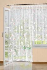 Gardine  Vorhang Höhe 245cm  breite  600cm  Store weiss coloriert Langstore