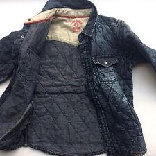 WE Jeansjacke Jackenhemd Hemd Denim abgesteppt blau 110 116
