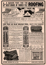 1909 AD SEARS ROEBUCK CO ROOFING CONSTRUCTION MATERIALS FARM HOME