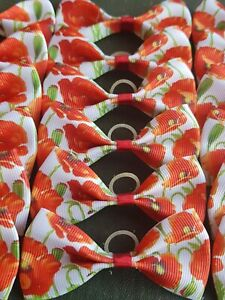 24 XL Dog Grooming Bows Top Knot Bows Collar Poppy Poppies