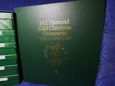 "M I Hummel Gold Christmas Ornaments ""Little Grown-ups"" 12Pc Set"