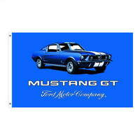 FORD MUSTANG GT TAILGATING FLAG 5FT X 3FT QUALITY - FREE DELIVERY - AMERICANA