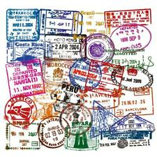 50pcs travel postmark stickers journal scrapbooking