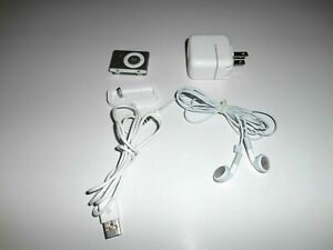 Apple A1204 iPod Shuffle 2nd Generation Clip On 1GB Silver BUNDLE *UNTESTED*