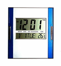 Design Digital Uhr Wanduhr 12/24 Stunden Datum Kalender Alarm Timer Snoze Möbel
