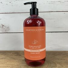CRABTREE & EVELYN POMEGRANATE & ARGAN OIL HAND WASH Liquid Soap 16.9 Fl Oz Pump