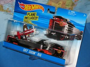 HOT WHEELS SKY SHOW RIG MATTEL DETACHABLE TRAILER 2 PACK ***BRAND NEW & VHTF***