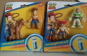 2 Pack Disney Imaginext Toy Story Buzz Lightyear And Jessie, woody & bullseye