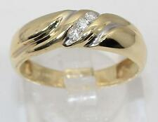 14K Yellow Gold Round Diamond Anniversary Ring 0.10ctw Size 8.5