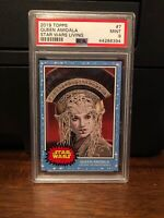 2019 Topps Star Wars Living Set Queen Amidala #7 PSA 9 Mint