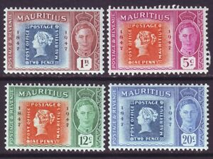 Mauritius 1948 SC 225-228 MH Set Stamp Centenary