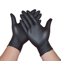 Comfortable 100Pcs Rubber Disposable Mechanic Nitrile Gloves Black Medical Exam