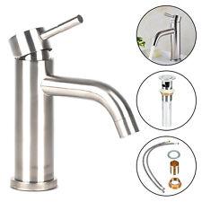 Modern Bathroom  Basin Sink Mixer Chrome Cloakroom Waterfall Tap  UK